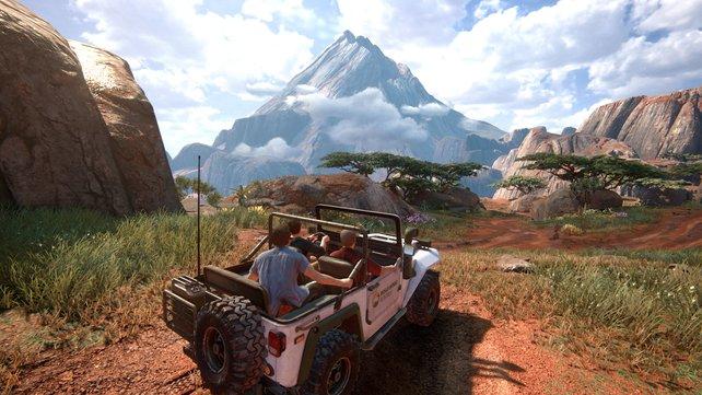 Irre Aussichten erwarten euch in Uncharted 4. Doch der Unterschied zur PS4 Pro fällt dezenter aus.