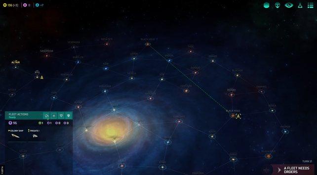 Übersicht im Universum: Die Galaxien sind durch Sternenpfade verbunden