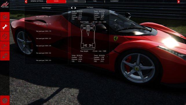 Für Rennspielfanatiker gibt es alle möglichen Information über die Autos.