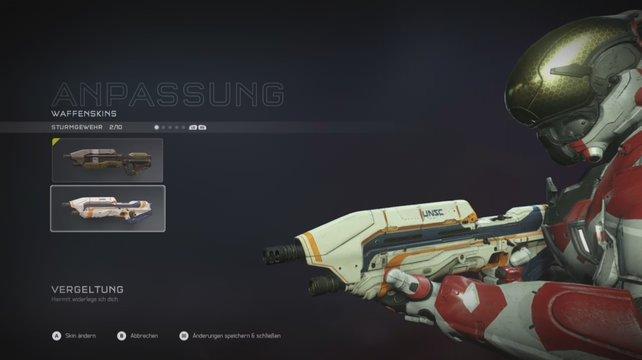 Vergeltung: So schön sieht der Gratis-Skin für das Sturmgewehr aus.