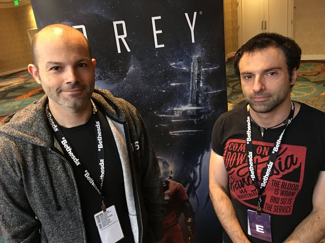 Ricardo Bare (links) und Raphael Colantonio auf der Quakecon in Dallas.