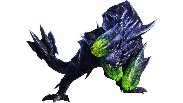 Der grüne Schleim am Kopf und an den Fäusten des Brachydios ist leicht entflammbar.
