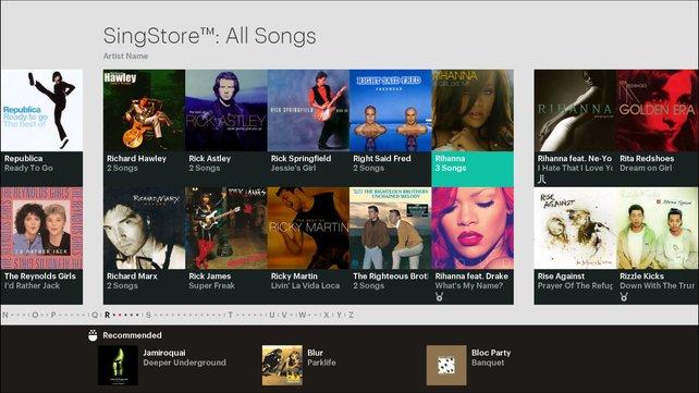 Der Singstore bietet eine breite Musikauswahl - für das nötige Kleingeld.