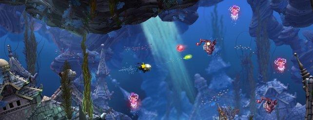 Merrys U-Boot im Kampf gegen Tiefseefische