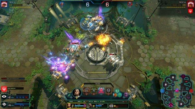 Der Spieler muss ständig den Überblick über seine drei Maschinen behalten.
