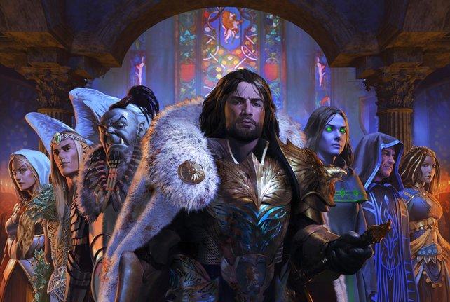Die sechs Geschichtenerzähler vereint hinter Iwan.