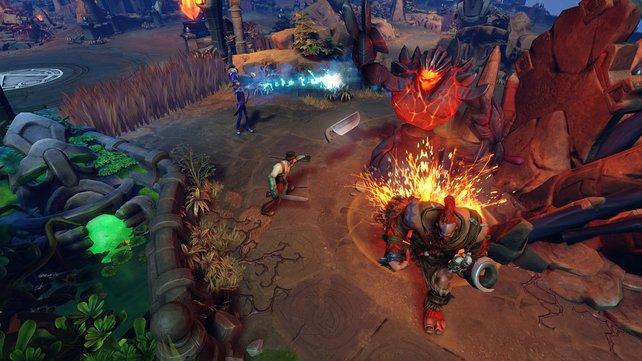 Auch Nicht-Spieler-Charaktere könnt ihr im Spiel besiegen.