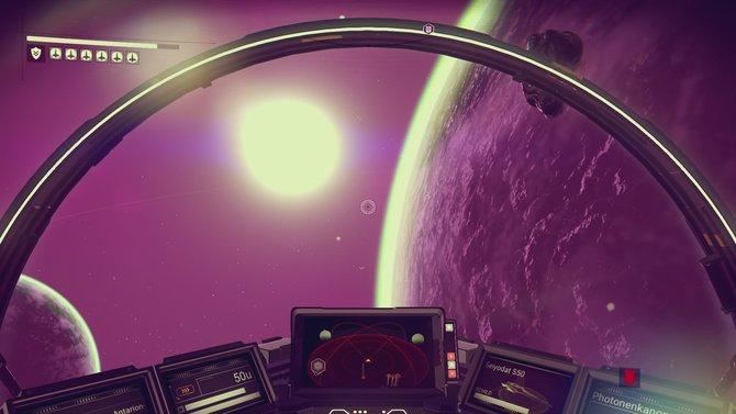 Mit aufrüstbarem Raumschiff besucht ihr ein riesiges Spieleuniversum.