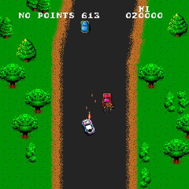 Das Original-Spy-Hunter erschien ursprünglich als Spielhallentitel, wurde aber später auch für C64 und Amiga veröffentlicht.