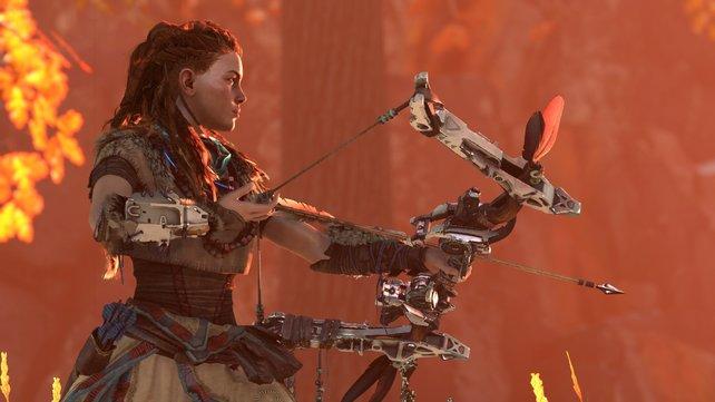 Über die Jägerin Aloy ist nur wenig bekannt, sie erweist sich aber als unerbittliche Kämpferin.