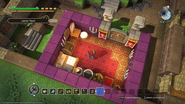 Viele Punkte: So in etwa könnte einer der besten Räume in Dragon Quest Builders aussehen.