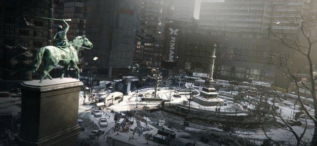 """Der Columbus Circle ist Schauplatz für den neuen Übergriff mit dem Namen """"Klarer Himmel""""."""