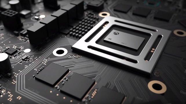 Von der kommenden Xbox Scorpio ist bisher wenig zu sehen. Microsoft zeigte bisher nur das Motherboard.