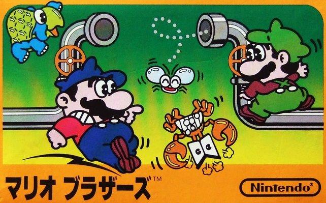 Der Klempner ist bei Mario Bros. von 1983 noch eine potthässliche Comicfigur, weil niemand bei Nintendo eine Vorstellung davon hat, wer Mario eigentlich ist.