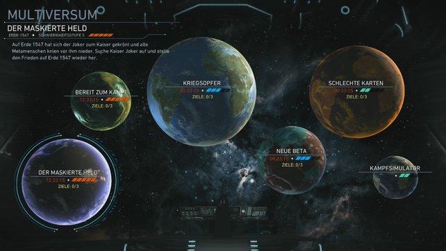 Auf jeder Erde im Multiversum warten neue Herausforderungen, die sich ständig ändern.