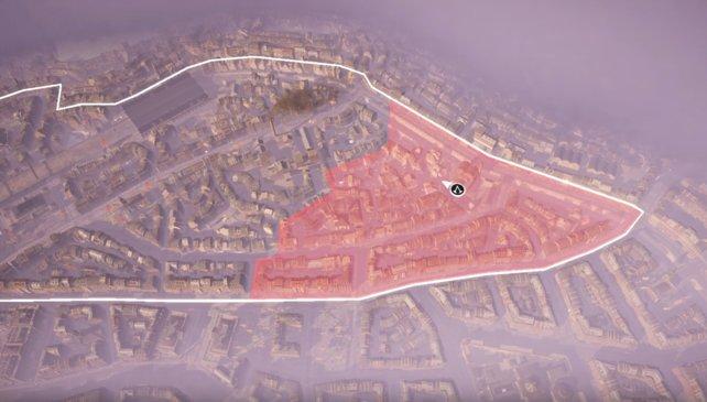 Einer Nachbarschaftsbezirk von Whitechapel ist gefallen, vier warten noch.