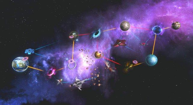 So sieht die finale Karte aus, wenn ihr alle Missionen freigeschaltet habt.