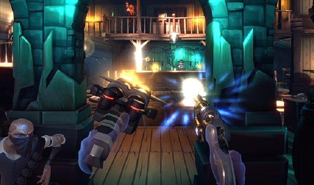 Shooter machen mit den Controllern besonders viel Spaß (hier: Dead and Buried.)
