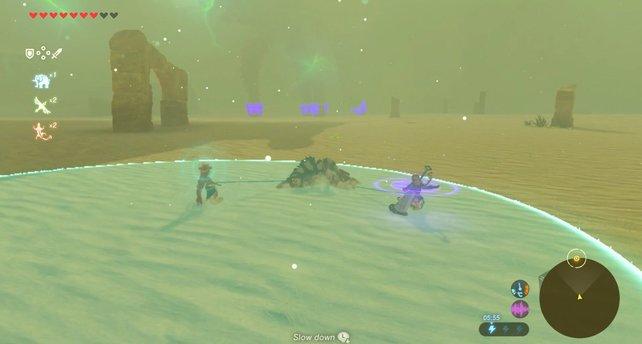 Der Donnerhelm hilft euch dabei, den Blitzen des Titanen zu entkommen.