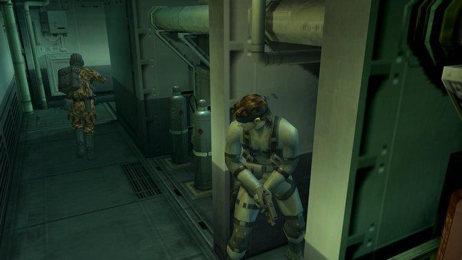 Metal Gear Solid 2 - Sons of Liberty warb mit dem berüchtigten Soldaten Snake.