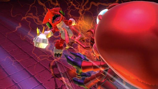 Auch im Mehrspielermodus könnt ihr mit eurem Digimon um die Wette kämpfen.