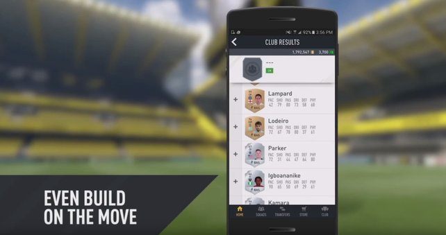 Fußball to go: Werte der Spieler könnt ihr auch über die Companion-App einsehen.
