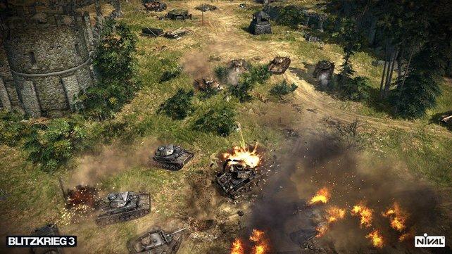Um einen Panzer zu zerstören braucht es nur ein paar Treffer.
