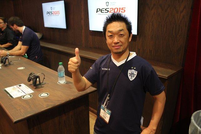 Yoshikatsu Ogihara, der Entwicklungschef von PES 2015.