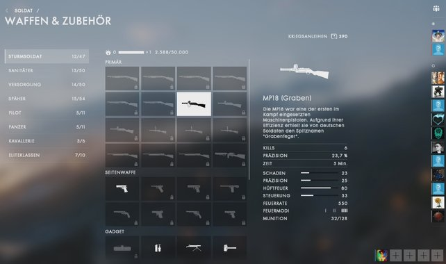 """MP18: Den Spitznamen """"Grabenfeger"""" erhielt die Waffe von deutschen Soldaten."""