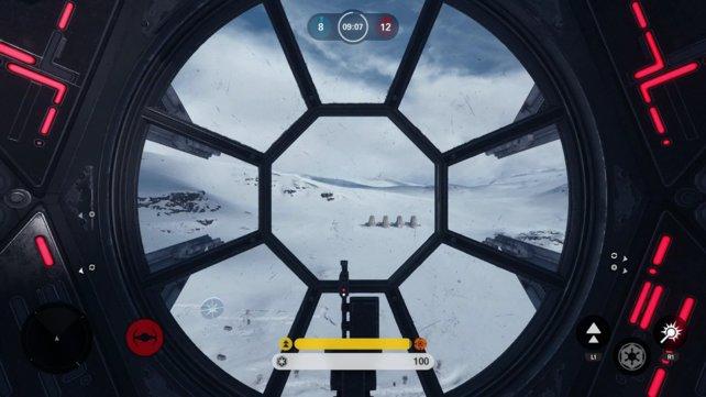 Die Luftkämpfe aus der Cockpitansicht eines Tie-Fighters sind großartig.