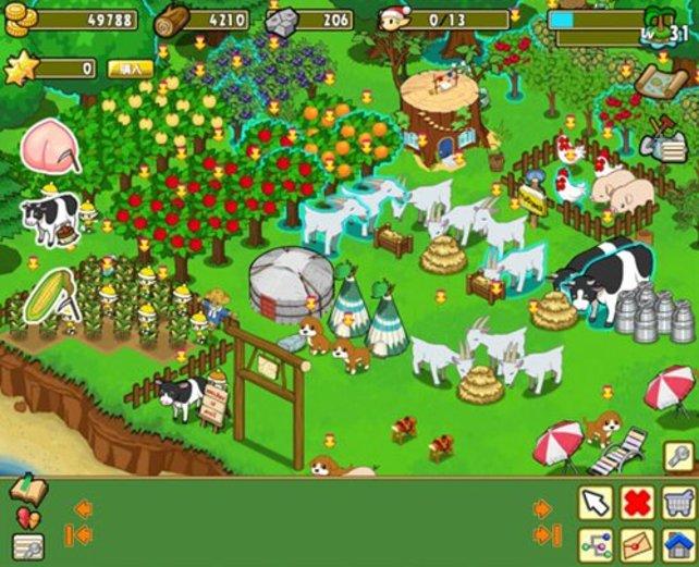 Minna de Bokujo Monogatari heißt so viel wie Harvest Moon für alle zusammen. Der Grafikstil erinnert an FarmVille, und das soll er auch. Das Facebook-Spiel hat bei Harvest Moon eiskalt abgekupfert, ist aber trotzdem etwa hundertmal so erfolgreich.