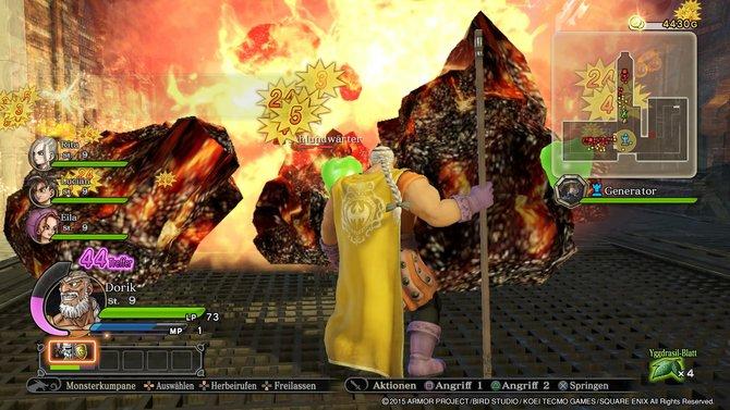 Mit den Spezialattacken räumt ihr in Dragon Quest Heroes das ganze Schlachtfeld auf.