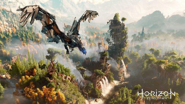 Die Welt von Horizon - Zero Dawn wirkt märchenhaft, steckt aber voller Gefahren.