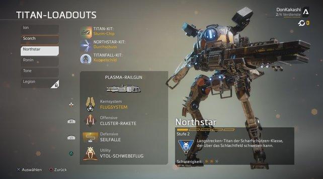 Northstar: Ein wahrer Scharfschütze unter den Titanen, der sogar schweben kann.