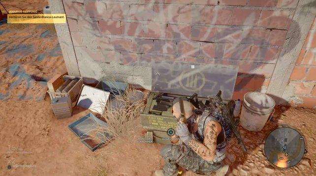 Diese grünen Kisten für Waffen sind überall in der Spielwelt von Ghost Recon Wildlands platziert.