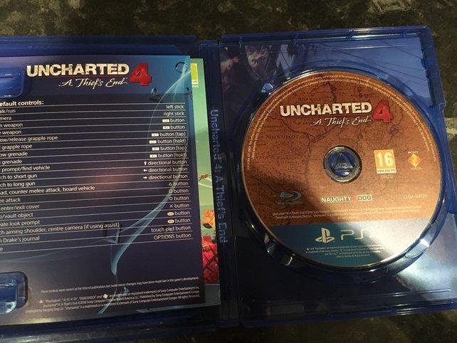 Uncharted 4 ist verfrüht im Verkauf gelandet. Hier ein Bild von Ebay Großbritannien.