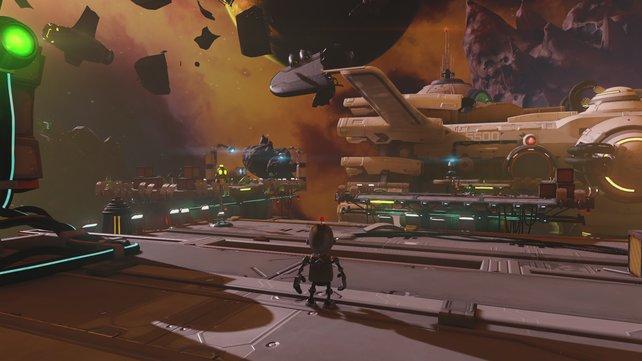Clanks Solo-Level sind kurz, bieten aber einige Puzzles.
