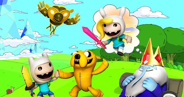 Eine perfekte Kombination: LittleBigPlanet und Adventure Time.
