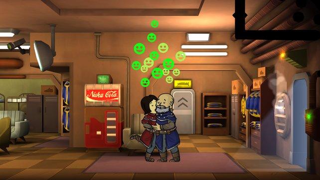In Fallout Shelter müsst ihr Babys bekommen, um eure Gemeinschaft zu vergrößern.
