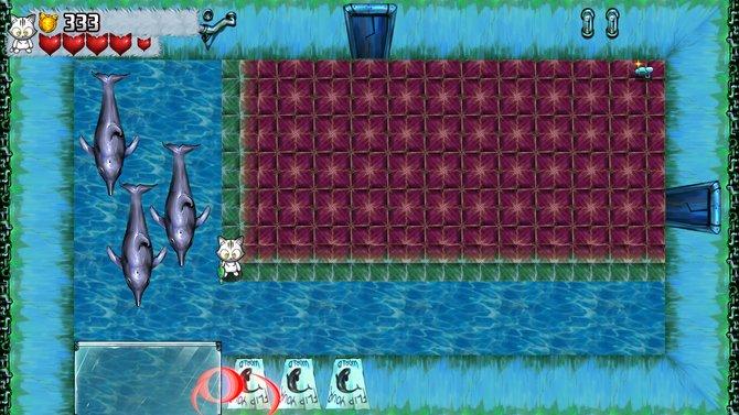 In Kitten Squad rettet ihr aus der Vogelperspektive Delphine.
