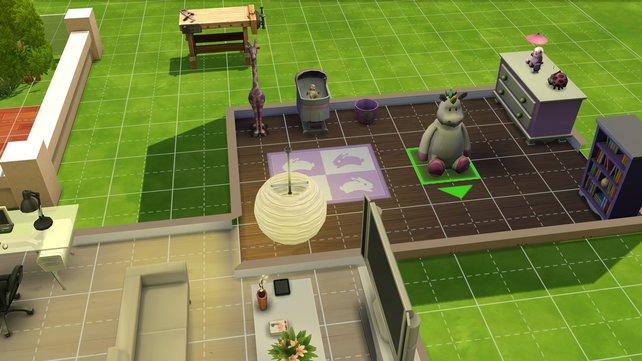 Für faule Spieler: Wählt einen vorgestalteten Raum aus und platziert ihn in eurem Haus.