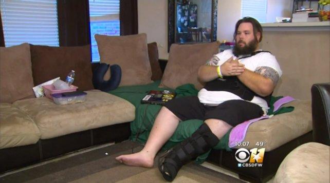 Ben Rose erholt sich nach dem Unfall. Quelle: dfw.cbslocal