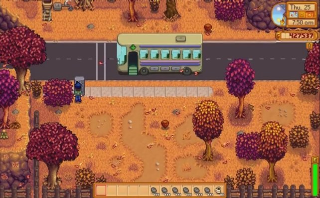 Dieser Bus bringt euch zur Wüste und zur Skull Cavern.