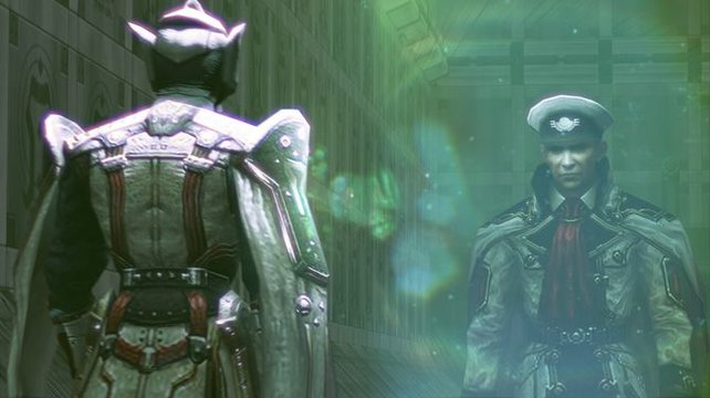 Admiral Cid von Milites ist hinter dem Kristall von Rubrum her.