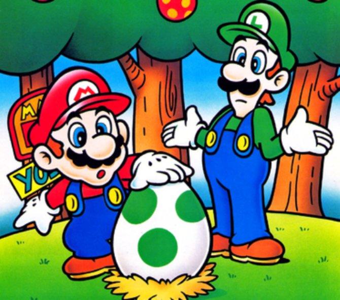 Alles beginnt vor 25 Jahren mit dieser Szene: Die Gebrüder Mario an ihrem ersten Urlaubstag auf der Dinosaurierinsel. Die Prinzessin ist weg, dafür ist ein komisches Ei da.