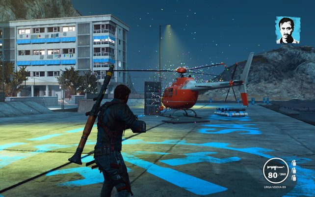 Erspart euch die Suche und lasst euch einen Helikopter von den Rebellen liefern.