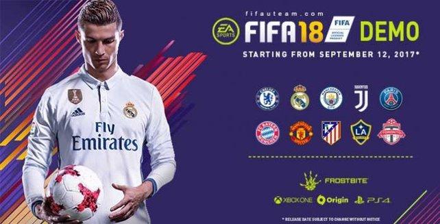 Demo zu FIFA 18: Das sind Release, Vereine und Modi. (Bildquelle: fifauteam.com)