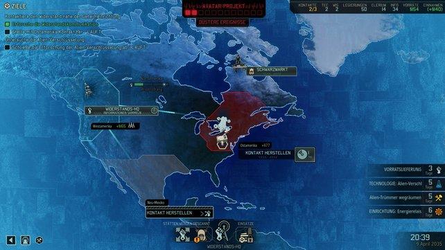 Auf der taktischen Weltkarte ist Einiges los.