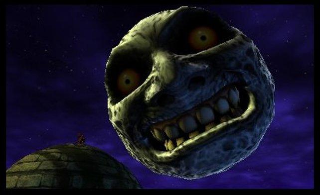 Keine fröhlichen Aussichten: Der Mond stürzt auf die Welt hernieder.