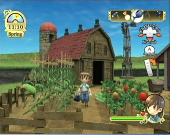 2007 war die Ära der weltweiten Wii-Begeisterung - und insbesondere für deren Fernbedienung. Nicht der Rede wert, dass ihr auch im ersten Wii-Harvest-Moon Baum der Stille fast alle bäuerlichen Handgriffe mit dem Plastikklotz vollführt.